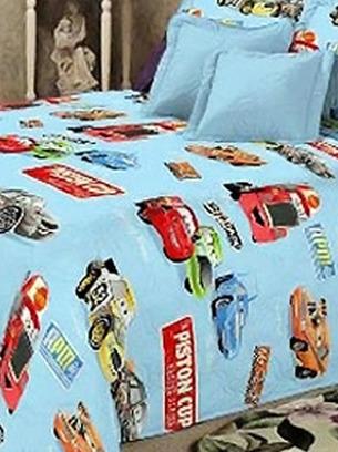 детское постельное с машинками