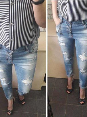 модные женские джинсы, женские джинсы рваные