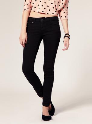 черные джинсы женские с низкой посадкой