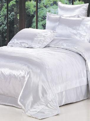 атласное постельное белое