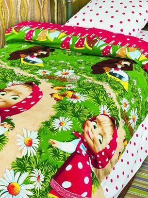 детское постельное белье с машей