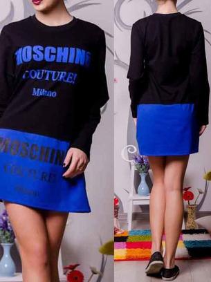 спортивное платье туника москино