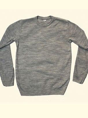 Стильный мужской свитер с круглым вырезом
