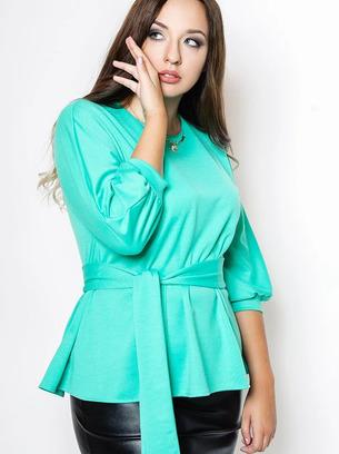 модные блузы больших размеров, трикотажные блузы