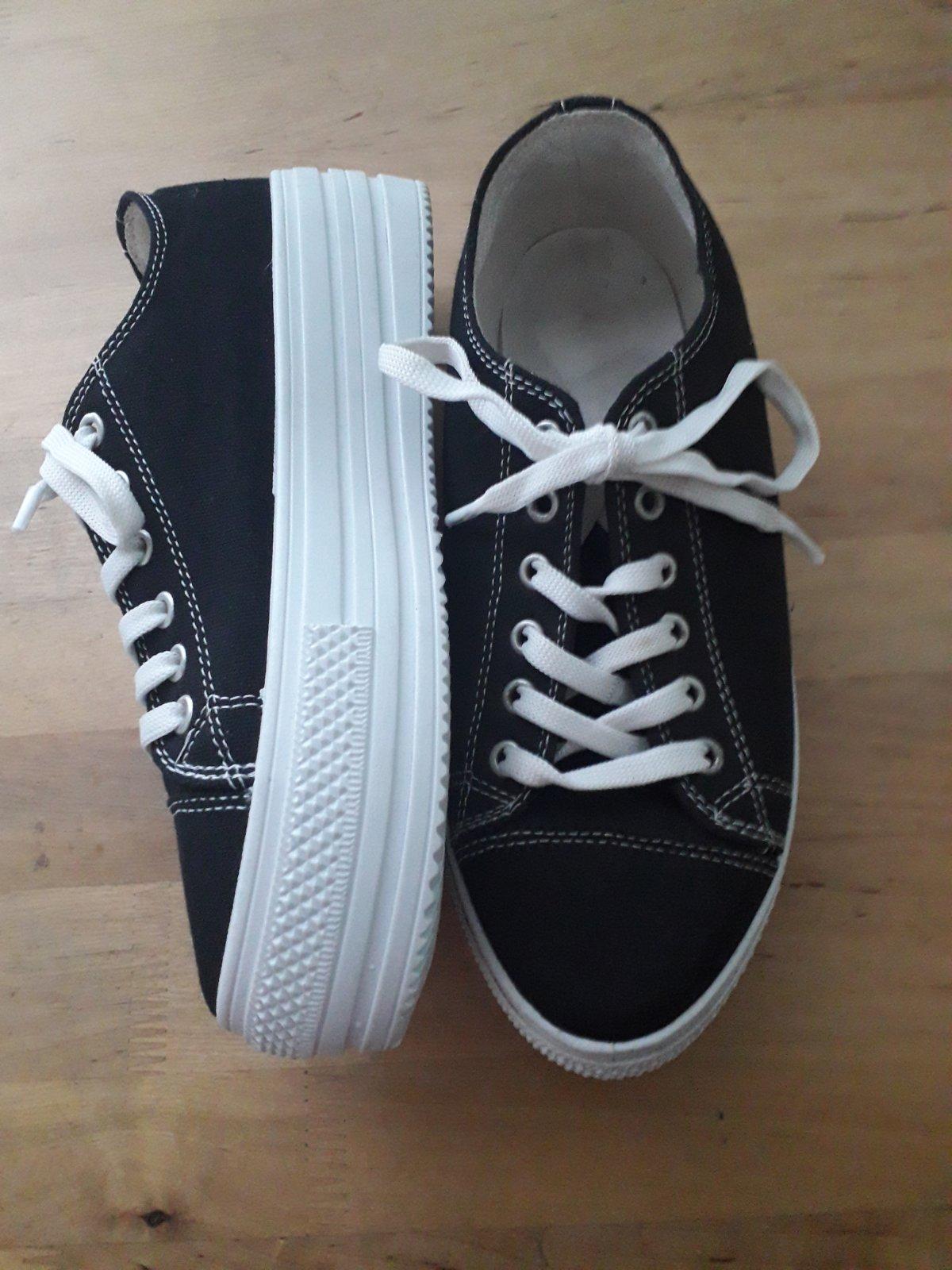 черные кеды на шнуроке