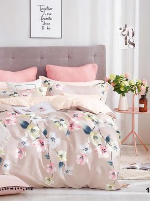 светло-бежевое постельное белье