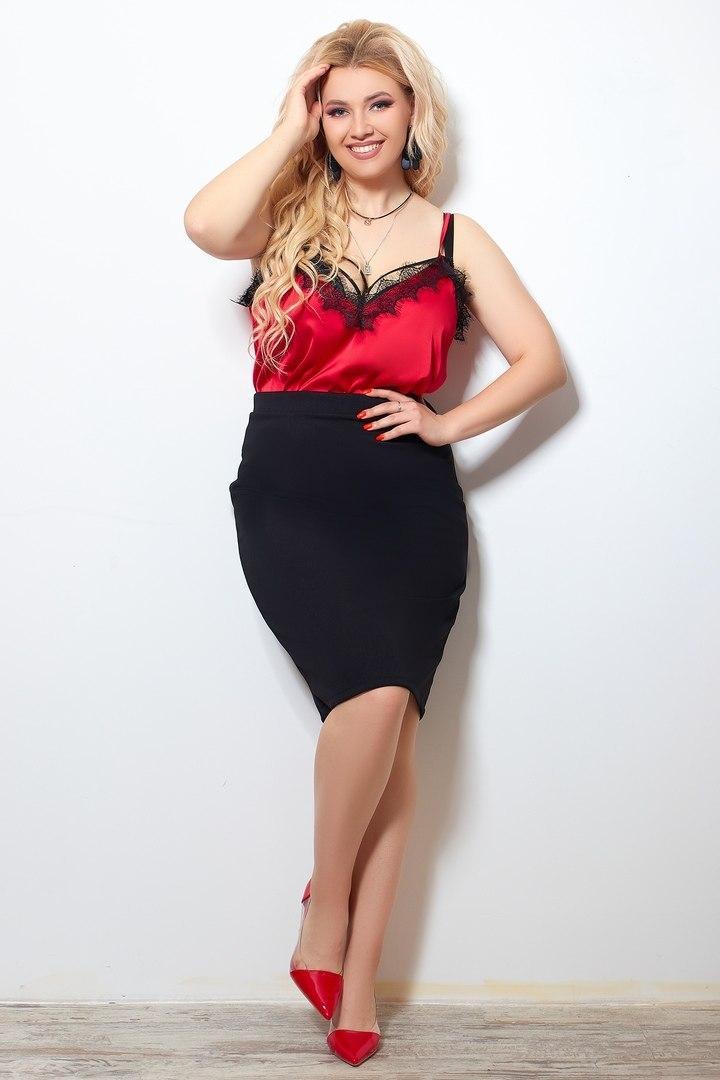 Шикарная женская классическая юбка больших размеров
