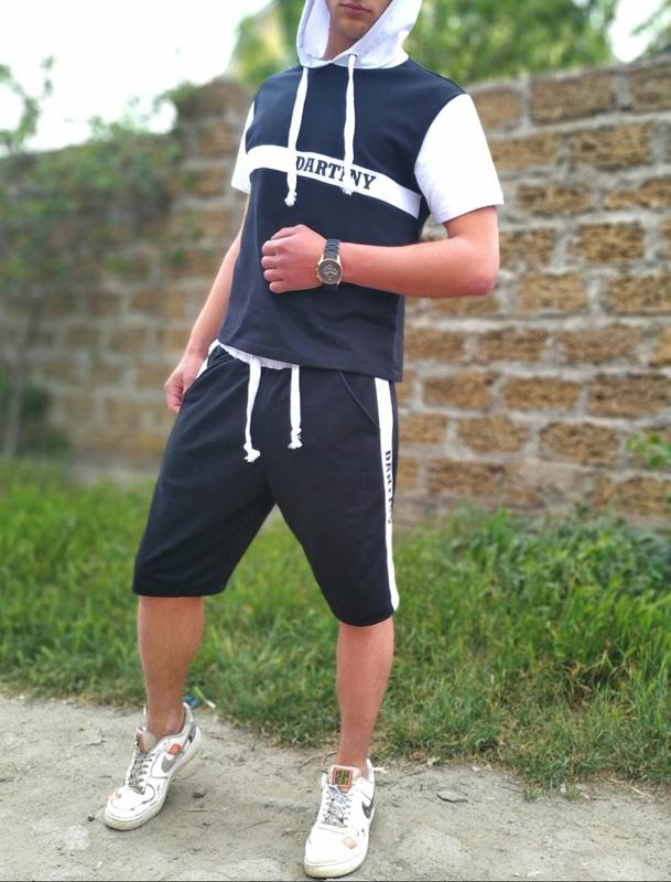 спортивные костюмы мужские с капюшоном и шортами