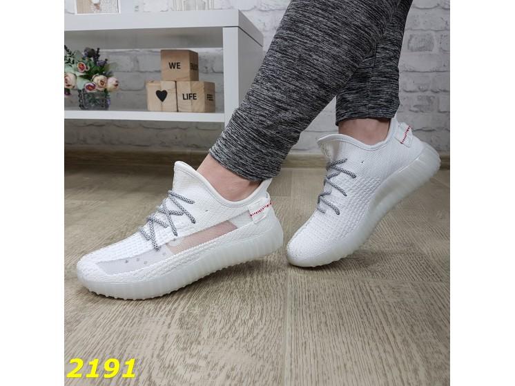 Кроссовки текстильные легкие дышащие с сеточкой перфорацией с рефлективными шнурками