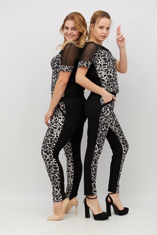 модные женские брючные комбинезоны, женские комбинезоны с леопардовым принтом