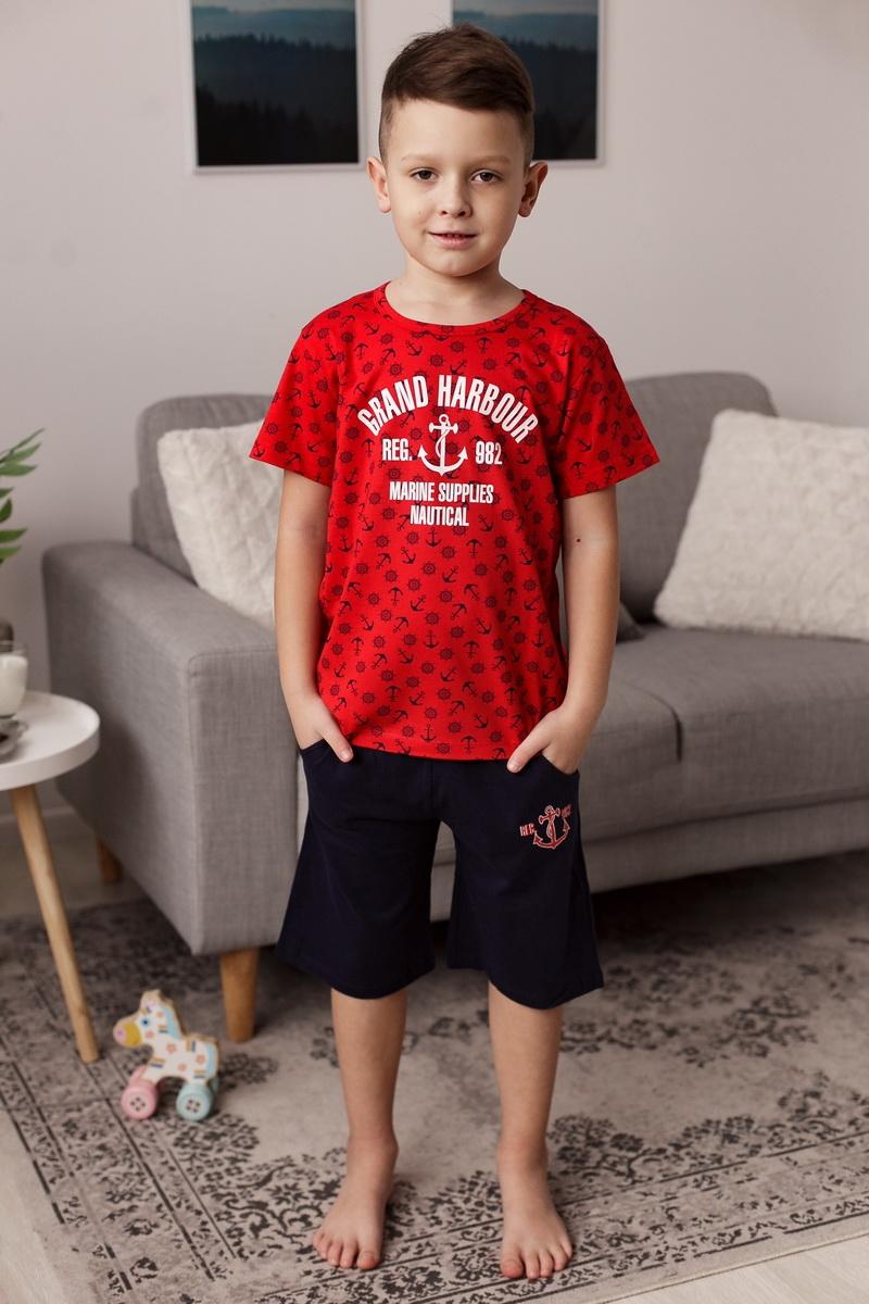 Крутой комплект с шортиками для мальчика c якорем
