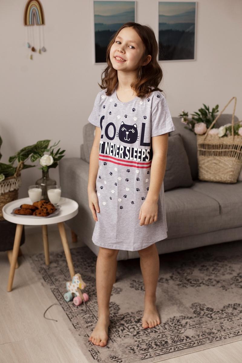 Модная туника для девочки со следами котика