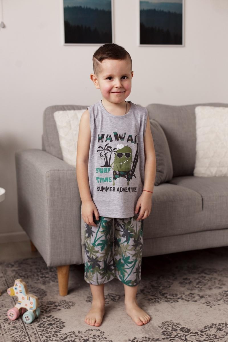 Модный хлопковый комплект с маечкой для мальчика