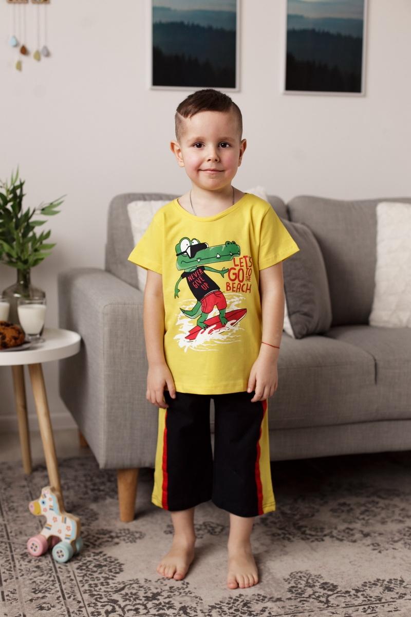 Модный комплект бермуды и футболка для мальчика