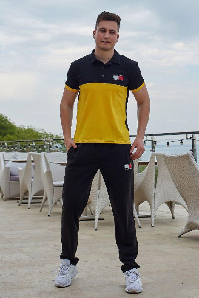спортивный костюм серый, желтый спортивный костюм