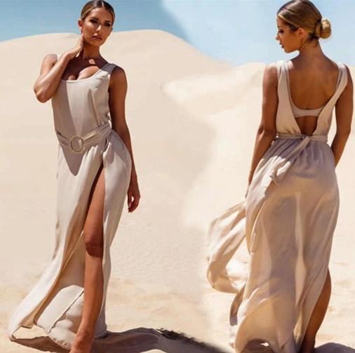 Шикарное женское макси-платье