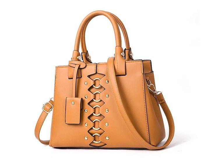 Шикарная женская классическая сумка из искусственной кожи