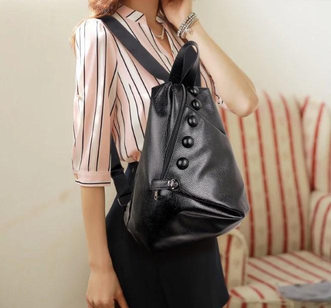 Крутой женский рюкзак из экокожи