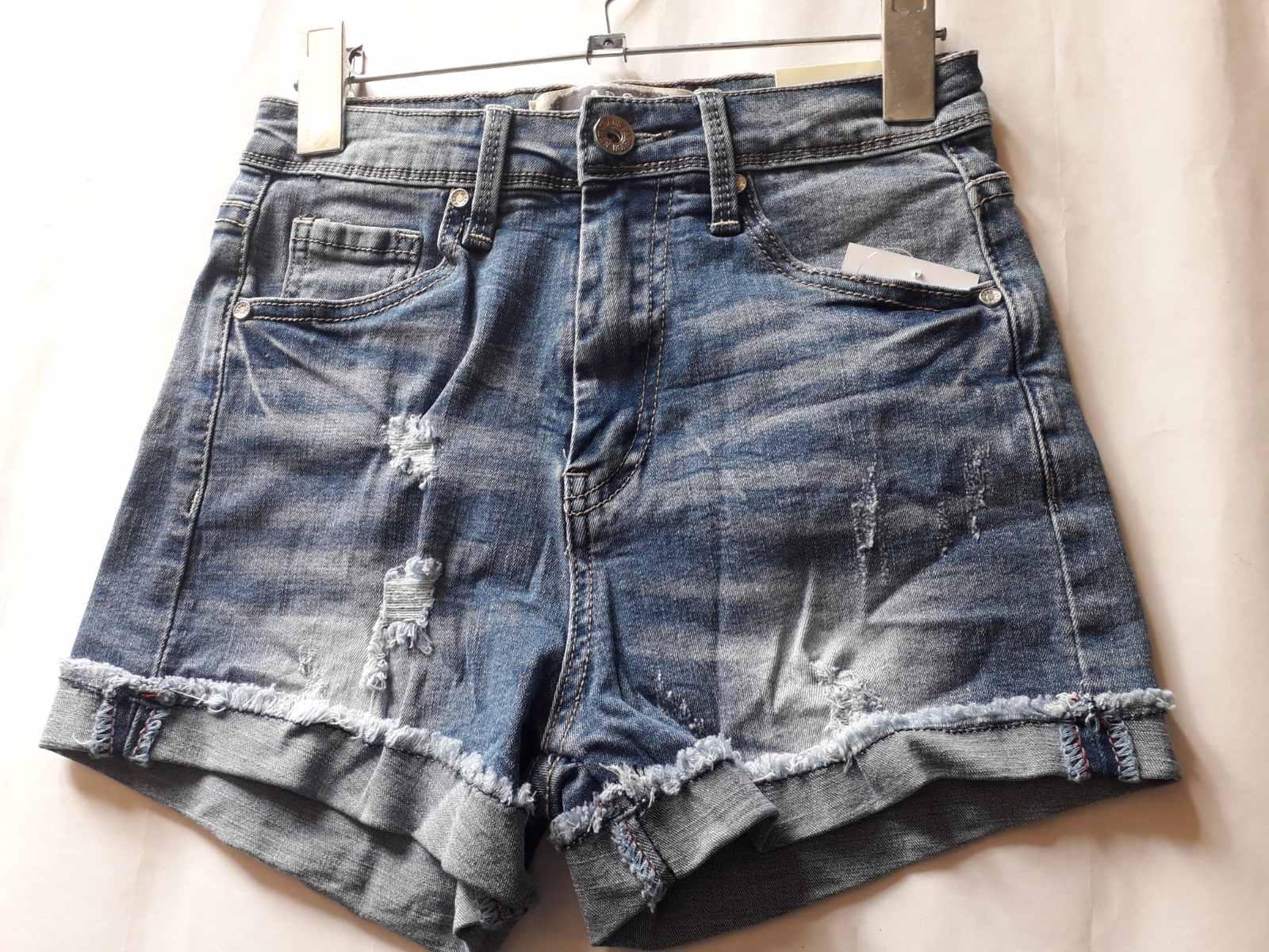 Шорты джинсовые женские с отворотами