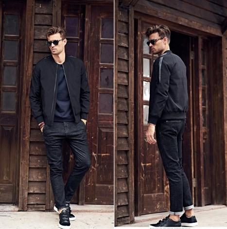 Модная мужская куртка бомбер