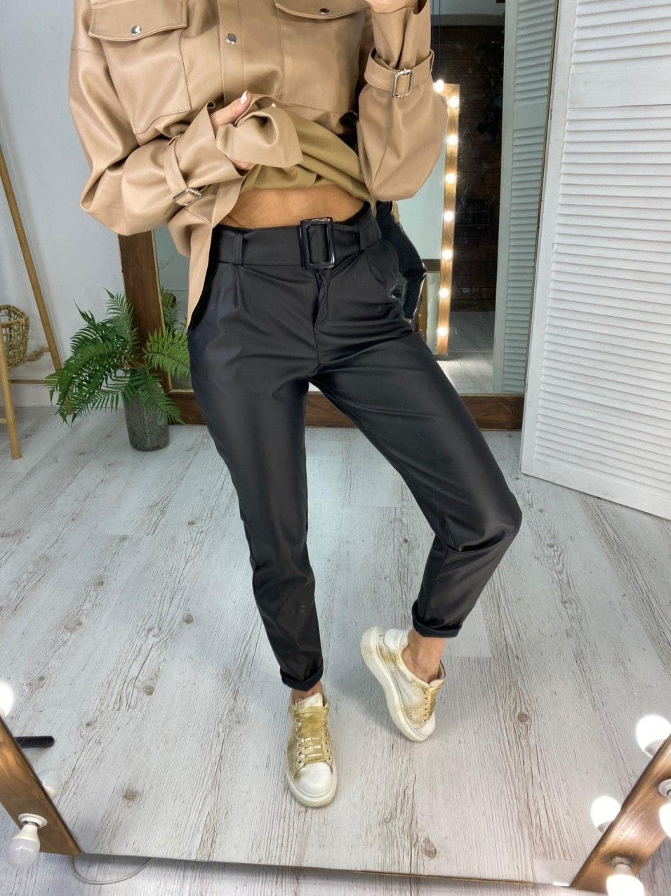 Стильные женские брюки с поясом в комплекте