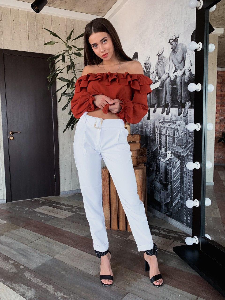 Стильные классические женские брюки с высокой посадкой
