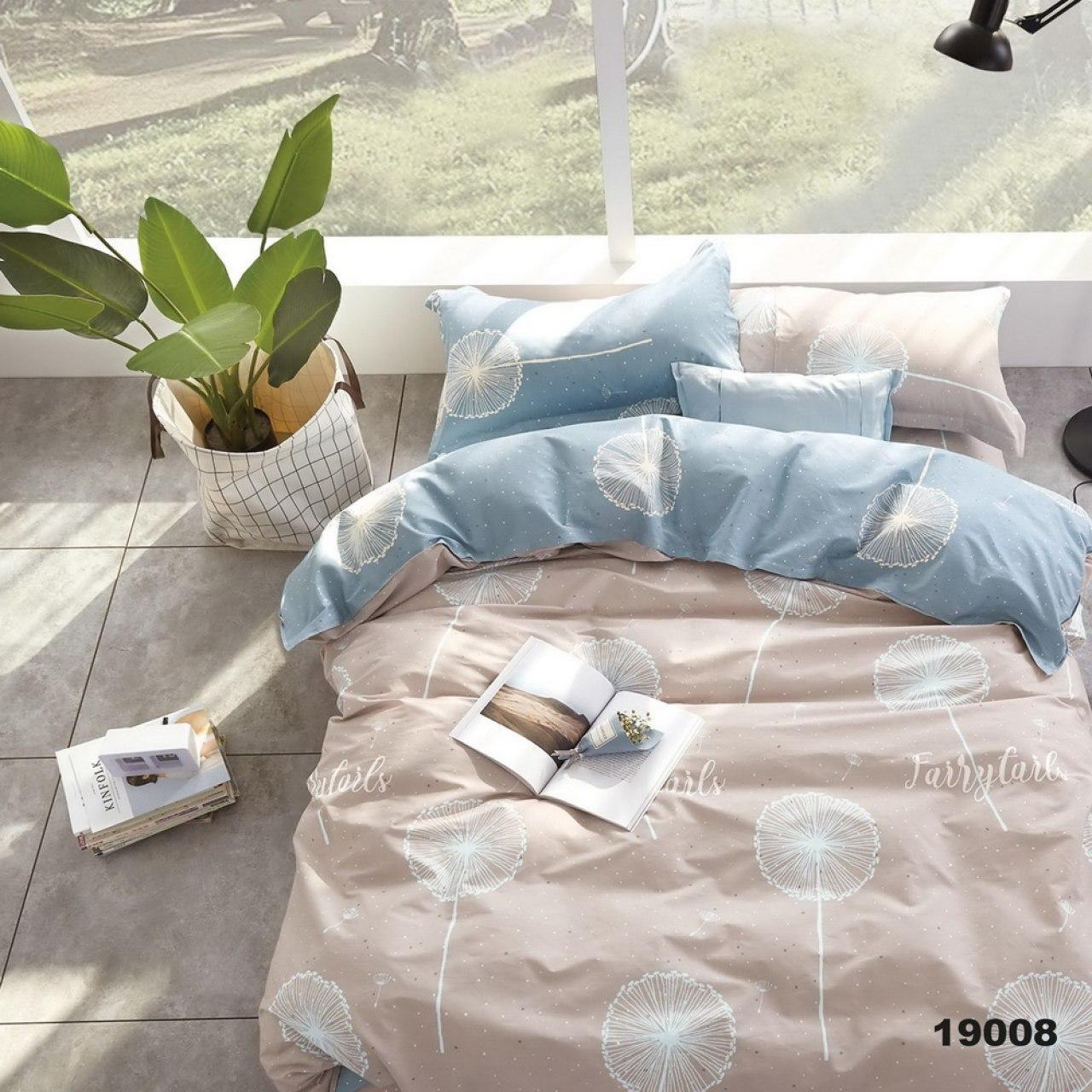 светло-голубое постельное белье