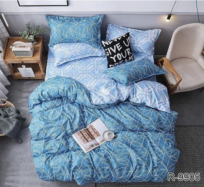 голубое постельное белье бязь ранфорс