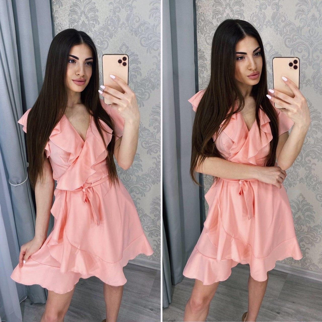 Романтичное женское летнее платье на запах
