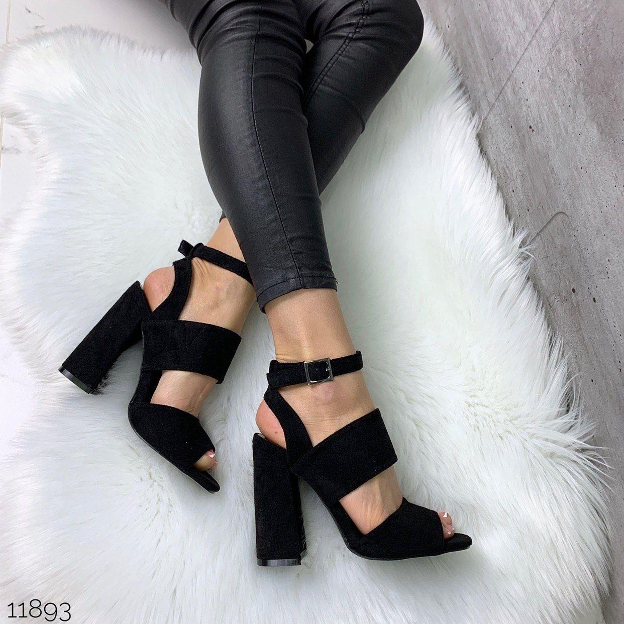 Обалденные женские босоножки на устойчивом каблуке
