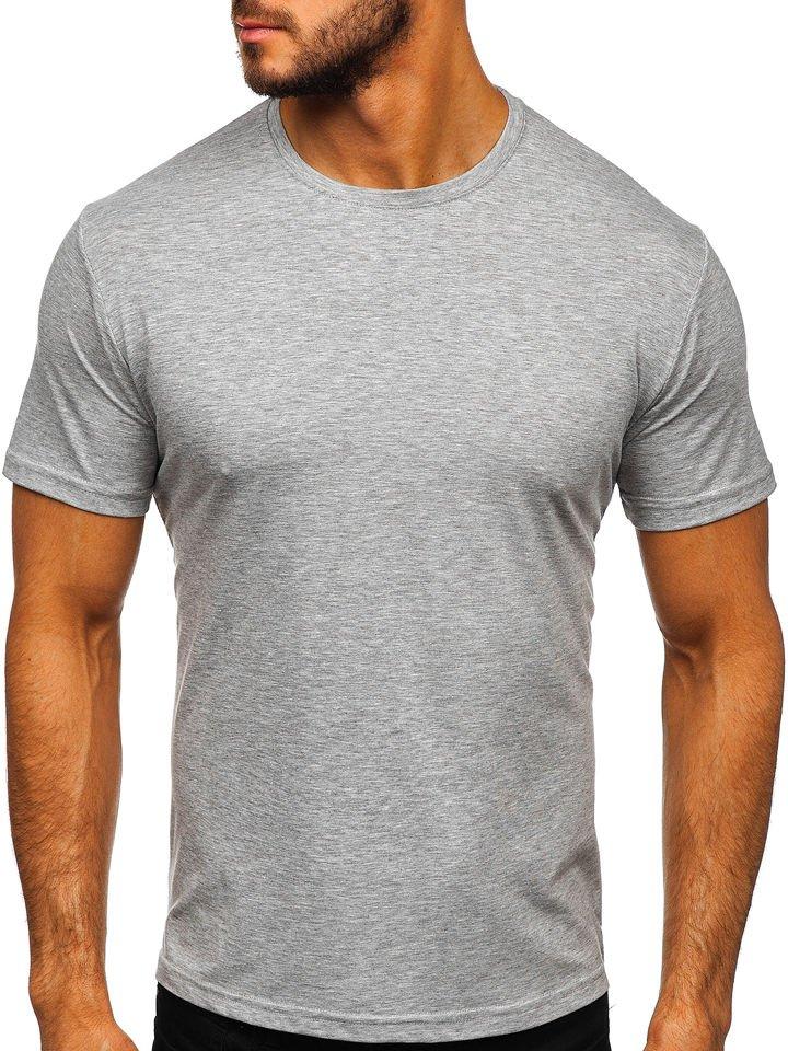однотонная мужская футболка большого размера