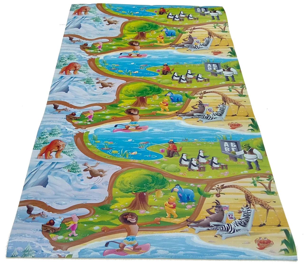 Детский коврик 1500х1200х8мм, «Мадагаскар»,теплоиз ...