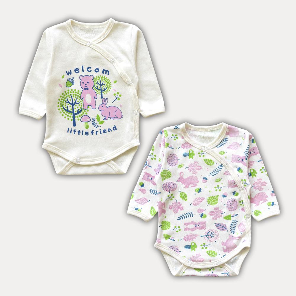Пара боди в комплекте для малышей в стильном и современной дизайне