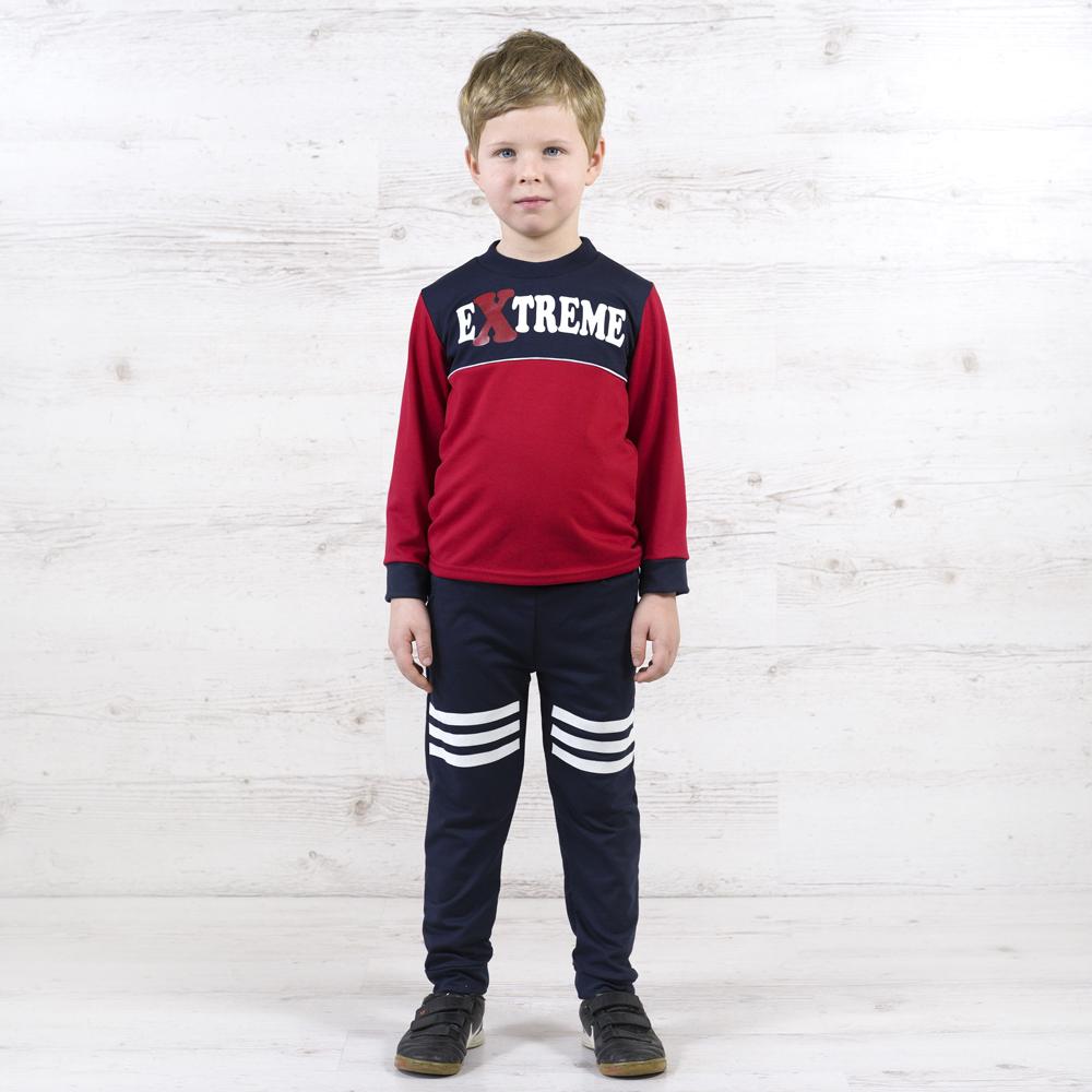 Сверхмодный костюм для мальчика с джемпером и штанишками на манжете
