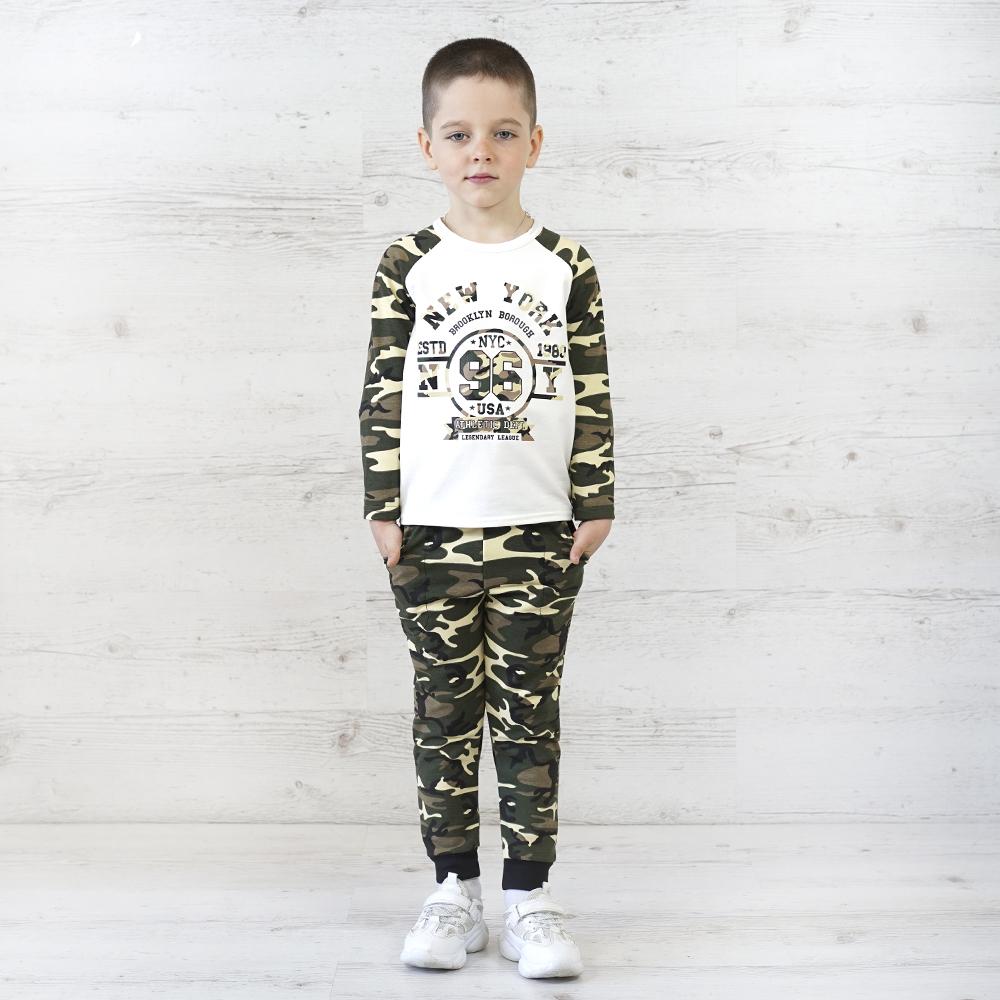 Крутой костюм для мальчика с джемпером и штанишками с карманами