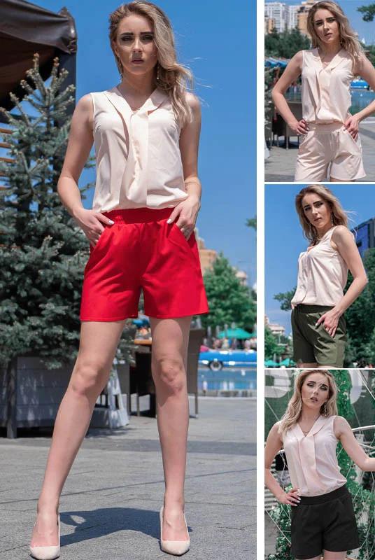 Классные летние женские короткие шорты больших размеров