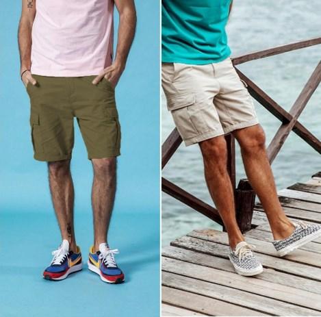 Стильные мужские шорты с карманами карго
