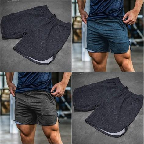 Удобные мужские спортивные шорты