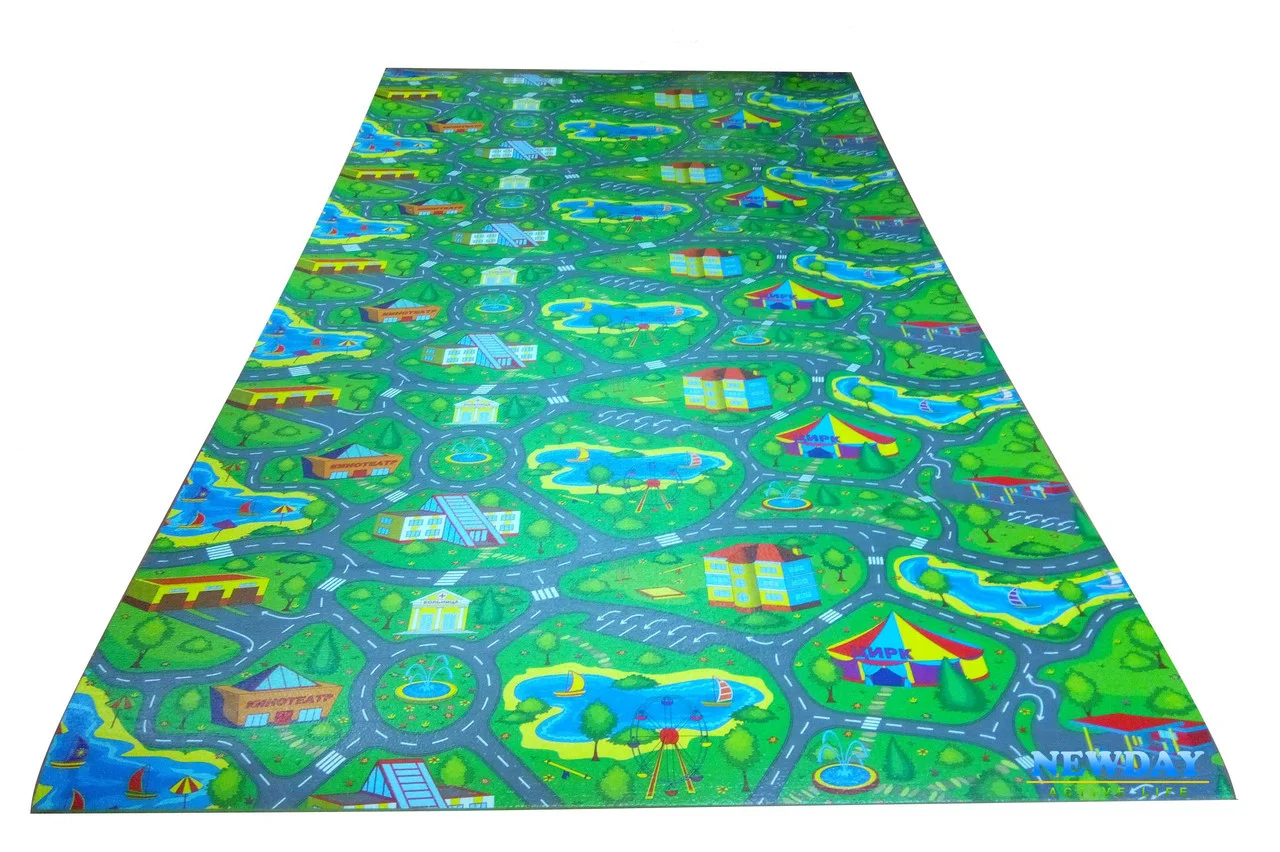 Детский игровой развивающий коврик 2500х1100х8мм « ...