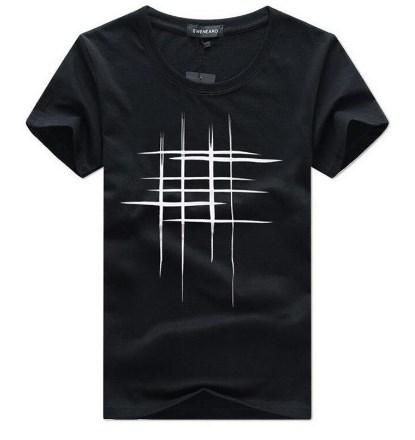 Крутая мужская футболка с принтом решетка