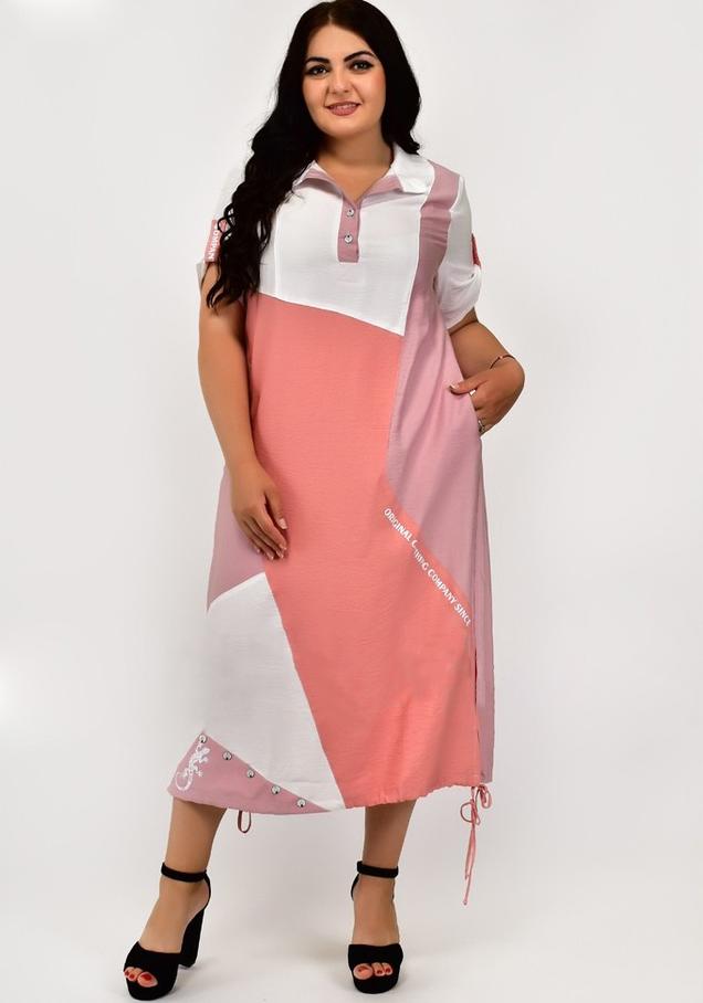 Шикарное летнее повседневное женское платье больших размеров