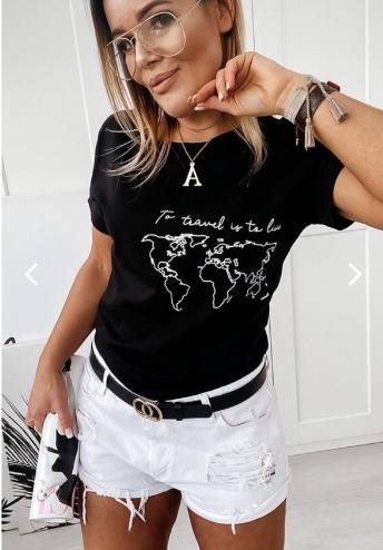 Обалденная женская футболка с оригинальным рисунком больших размеров