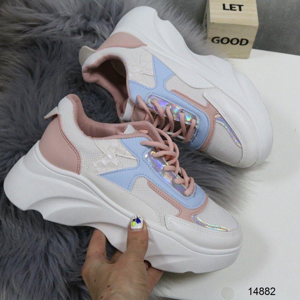 Обалденные женские кроссовки с цветными вставками