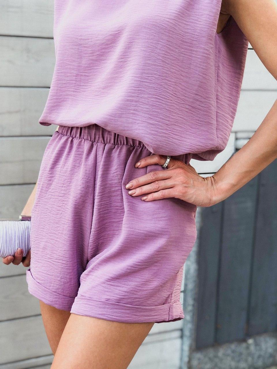 Шикарные женские летние шорты свободного кроя на резинке