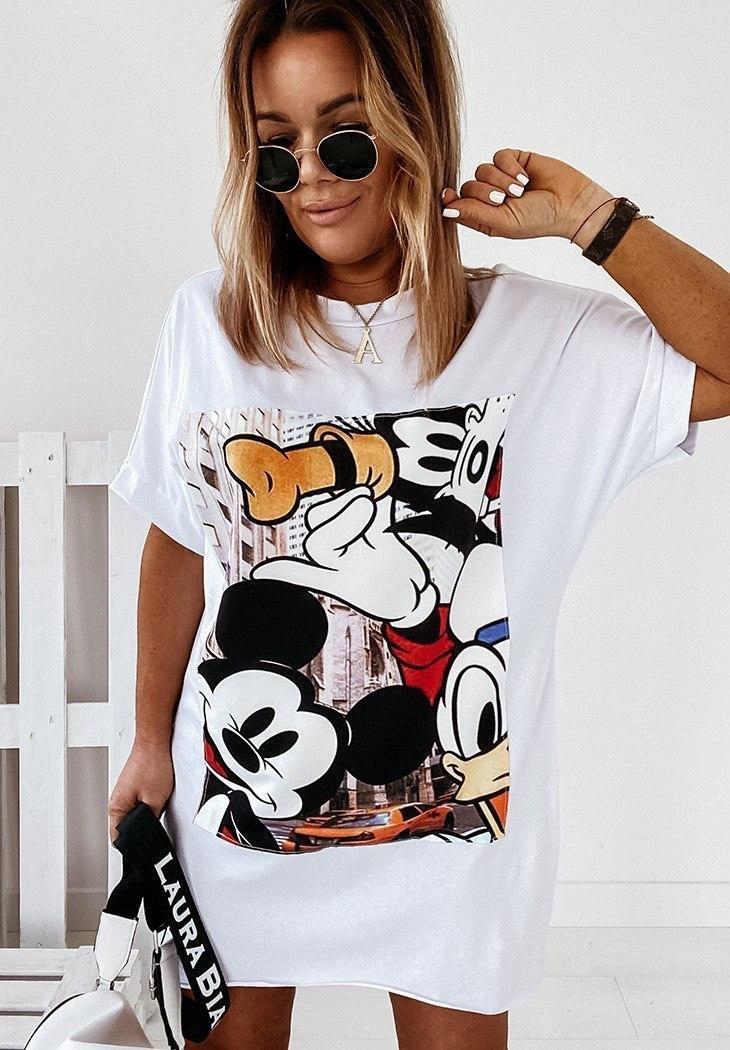 Модное молодежное летнее платье туника футболка