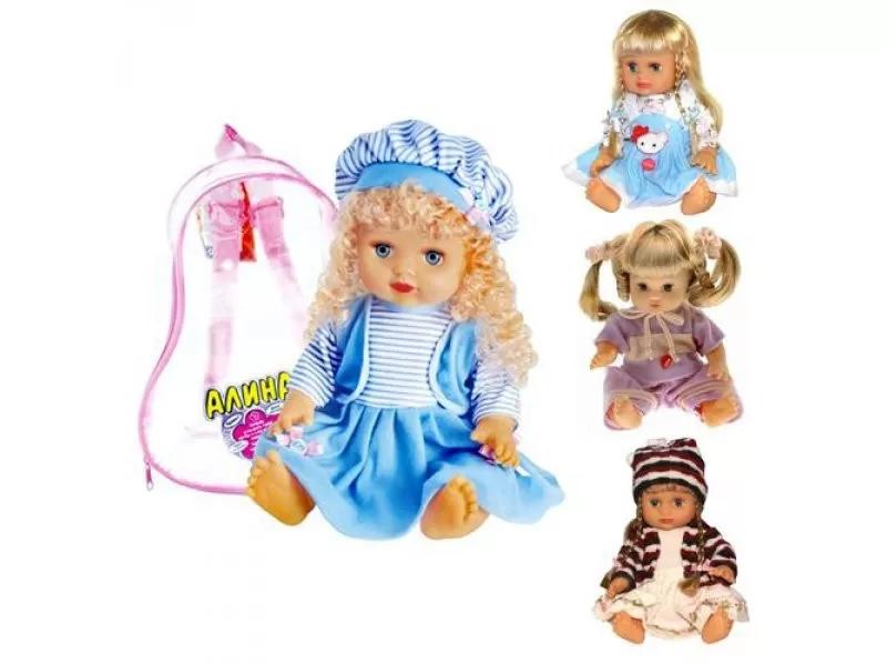 Музыкальная детская кукла пупс в рюкзаке