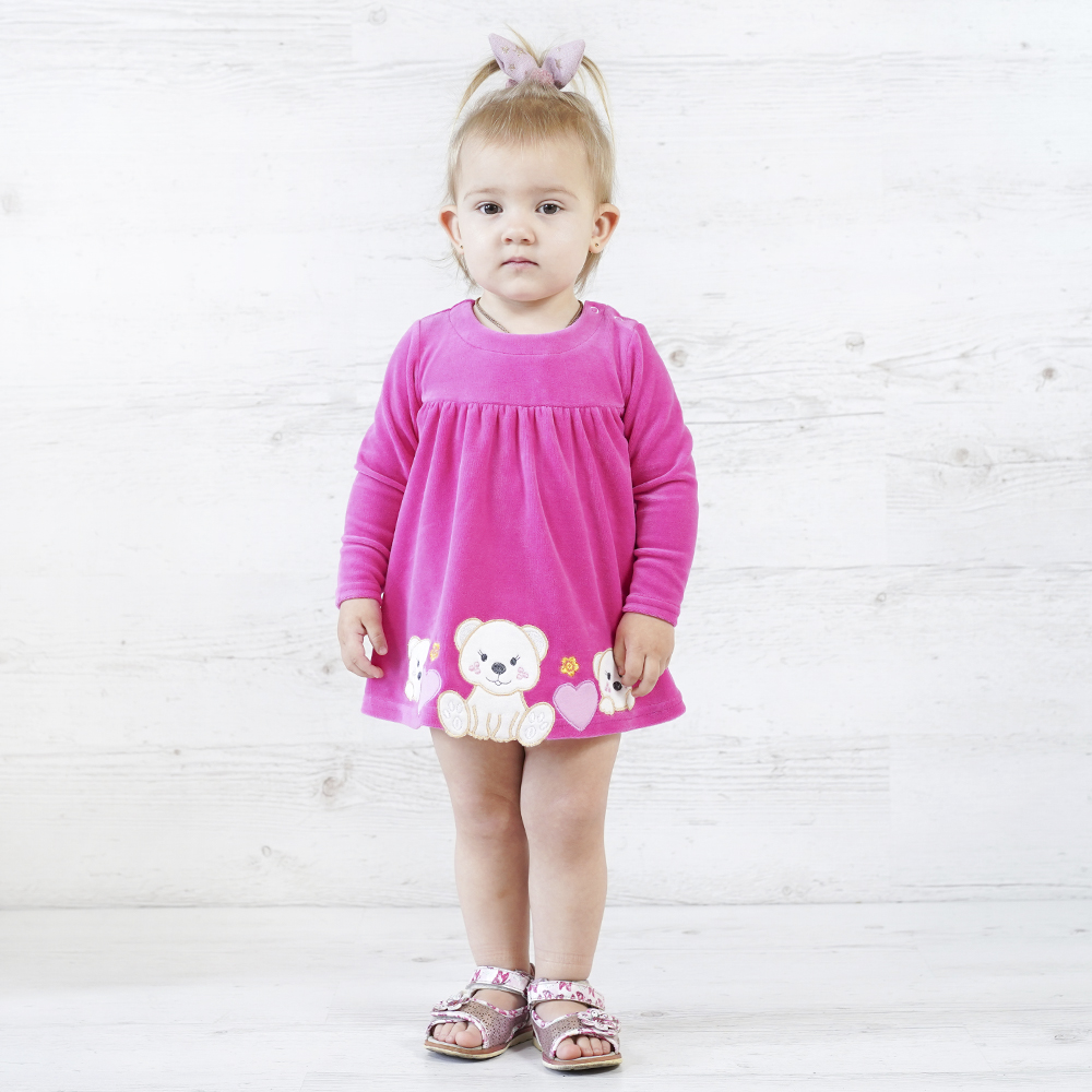 велюровое платье боди детское