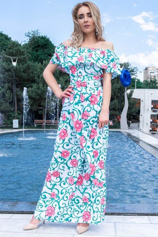 длинные платья сарафаны, шелковое платье, летнее платье больших размеров