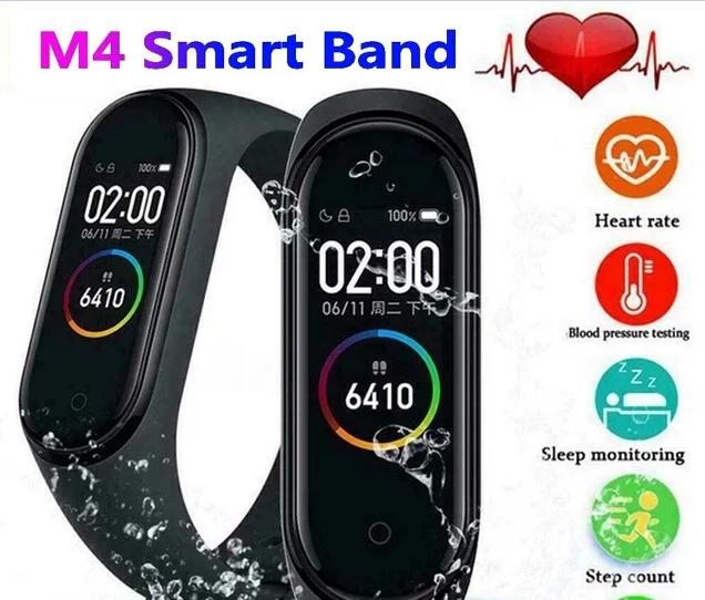 Фитнес трекер Mi Smart Band 4 смарт браслет черный (Black) РЕПЛИКА