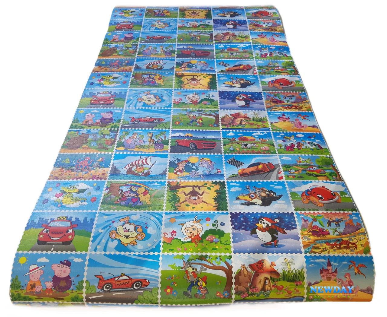 Детский коврик 1900х960х8мм теплоизоляционный, развивающий, игровой коврик